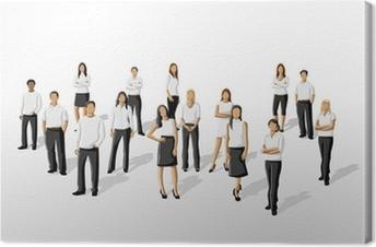 465e1da6 Lerretsbilde Mal av en gruppe mennesker som bærer hvite klær • Pixers® - Vi  lever for forandring