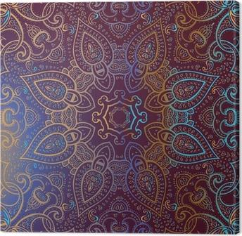 Lerretsbilde Mandala. Indisk dekorativt mønster.