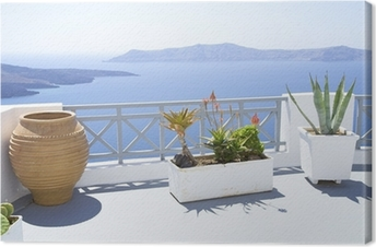 Lerretsbilde Middelhavet terrasse