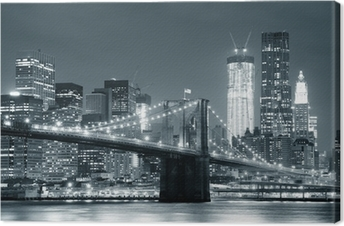Lerretsbilde New York City Brooklyn Bridge
