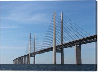 Lerretsbilde Öresund Brücke - Verbindung zwischen Dänemark und Schweden