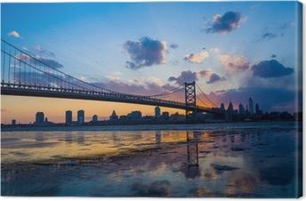 Lerretsbilde Panorama over Philadelphia skyline