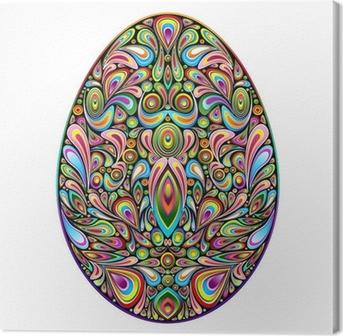Lerretsbilde Påskeegg Psychedelic Art Design Uovo di Pasqua Ornamentale