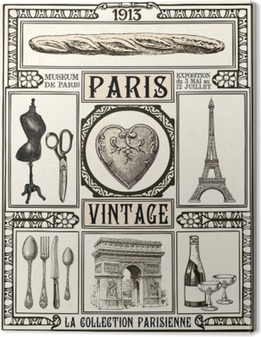 Lerretsbilde Plakat Paris Vintage