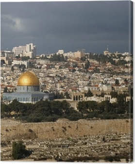 Lerretsbilder premium Den hellige byen Jerusalem fra Israel