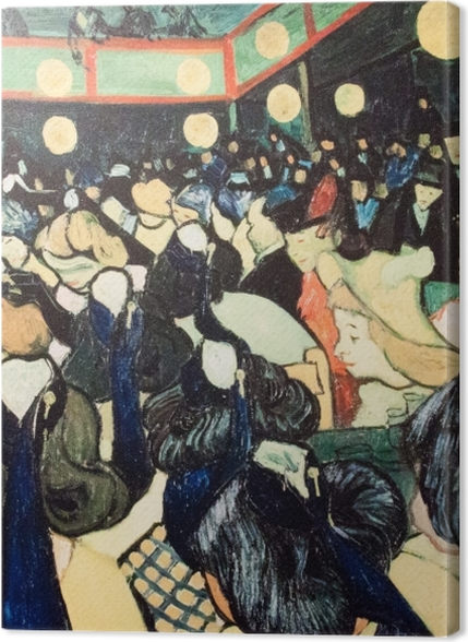 Lerretsbilder premium Vincent van Gogh - The Dance Hall i Arles - Reproductions