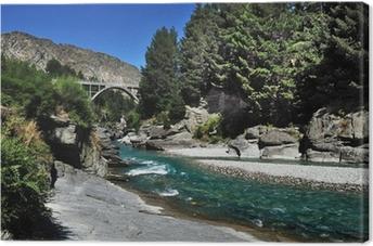 Lerretsbilde Queenstown River New Zealand