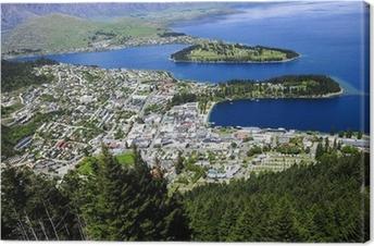 Lerretsbilde Queenstown ved Lake Wakatipu