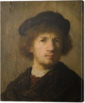 Lerretsbilde Rembrandt - Selvportrett