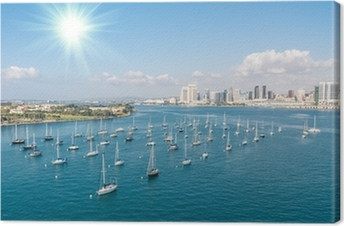 Lerretsbilde San Diego skyline og Waterfront