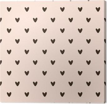 Lerretsbilde Sømløs hjerte mønster