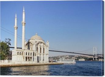 Lerretsbilde Sommer på Ortakoy med Mecidiye-moskeen