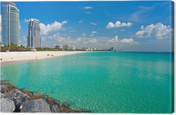 Lerretsbilde South Beach Miami, Florida