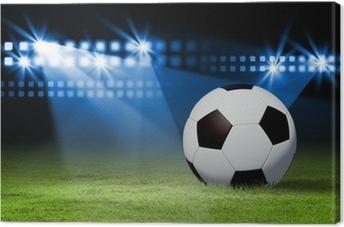 b4b5bd65 Lerretsbilde Svart og hvit fotball • Pixers® - Vi lever for forandring