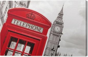 Lerretsbilde Telefonkiosk. London, Storbritannia