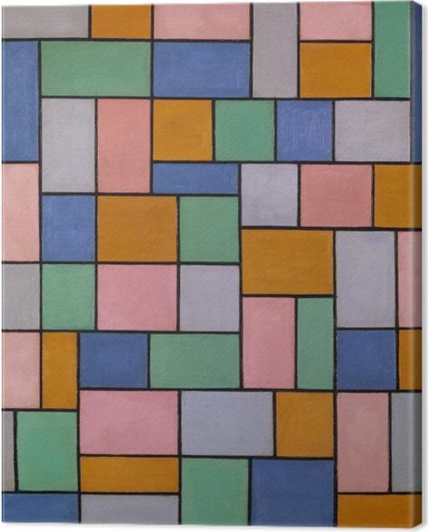 Lerretsbilde Theo van Doesburg - Komposition i dissonanser - Reproductions