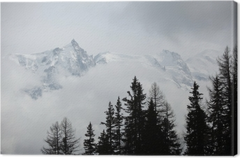 Lerretsbilde Toppen av fjellene