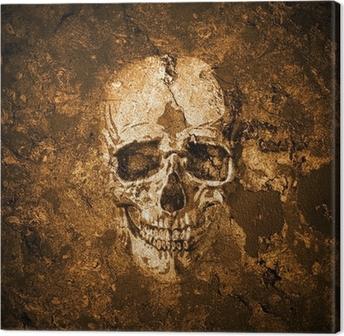 Lerretsbilde Totenkopf Hintergrund