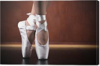 Lerretsbilde Ung ballerina danser, nærbilde