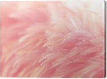Lerretsbilde Uskarphet fugl kyllinger fjær tekstur for bakgrunn, fantasi, abstrakt, myk farge av kunst design.