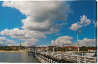 Lerretsbilde Utsikt fra bryggen ved Sopot