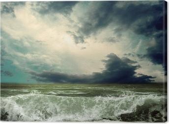 Lerretsbilde Utsikt mot stormsjø
