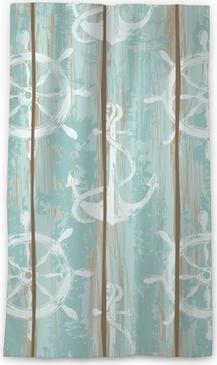 Lichtdurchlässiger Fenstervorhang Boards von Schiffsdeck nahtlose Muster
