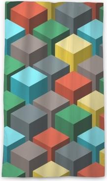 Lichtdurchlässiger Fenstervorhang Nahtlose geometrische abstrakte Muster. Vektor-Illustration.