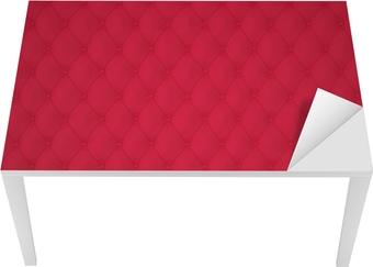 Masa Çıkartması Dekorasyon Düğmeler Kırmızı Capitone Döşeme Desen Arka Plan. Klasikler ve Rokoko. 3D programına Rendering.