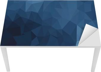 Masa Çıkartması Mavi geometrik desen, üçgenler arka plan