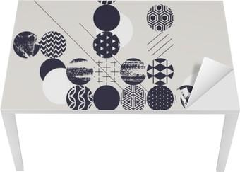 Masa Çıkartması Özet Modern geometrik arka plan