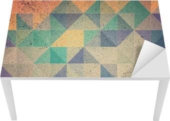 Masa Çıkartması Pembe ve mor üçgen arka plan illüstrasyon