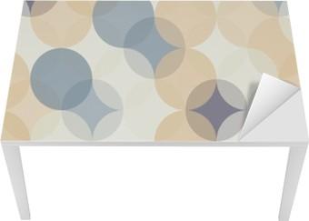 Masa Çıkartması Vektör Modern kesintisiz renkli geometri desen çevreler, renk soyut geometrik arka plan, duvar kağıdı baskı, retro doku, yenilikçi moda tasarımı, __