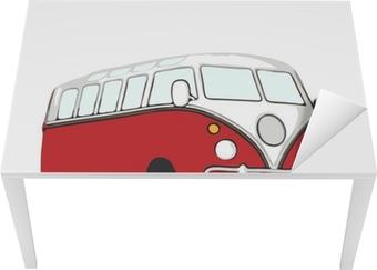 Mat- och Skrivbordsdekor Roter vw bus hippie