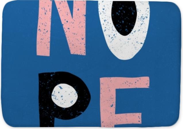 Mata łazienkowa Projekt retro typograficzne nope - Zasoby graficzne