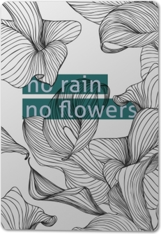 Metal Prints Hiçbir yağmur, hiç çiçek