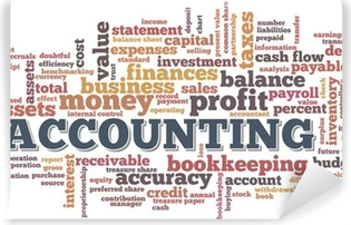 Mural de Parede em Vinil Accounting Word Cloud Word Bubble tags