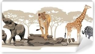 Mural de Parede em Vinil African Animals