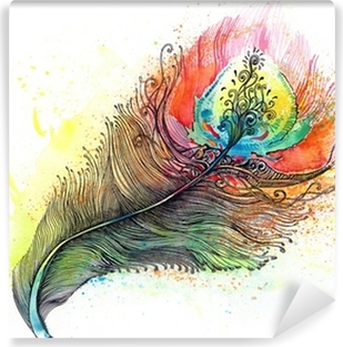 Mural de Parede Autoadesivo feather