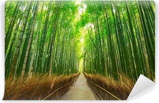Mural de Parede Autoadesivo Floresta de bambu arashiyama em kyoto japão