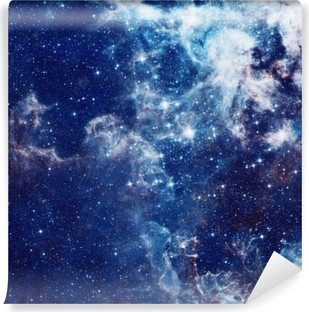 Mural de Parede Autoadesivo Ilustração Galaxy, fundo do espaço com estrelas, nebulosa, cosmos nuvens