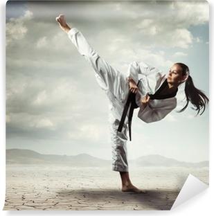 Mural de Parede Autoadesivo Karate girl kick