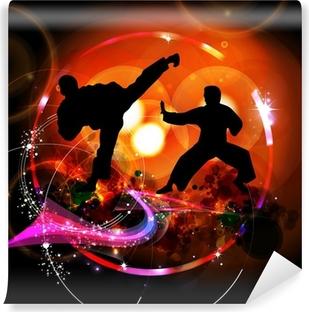 Mural de Parede Autoadesivo Karate illustration