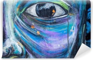 Mural de Parede Autoadesivo Parede da arte do graffiti