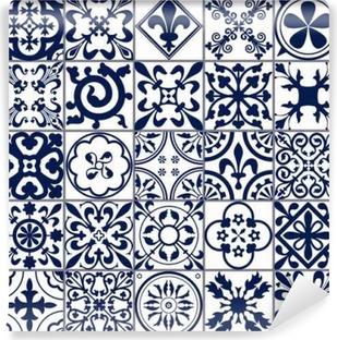 Mural de Parede em Vinil Azulejos marroquinos Seamless A