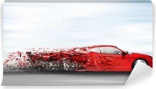 1b13524f43 Mural de Parede Borrão de movimento, corridas de carros de corrida ...