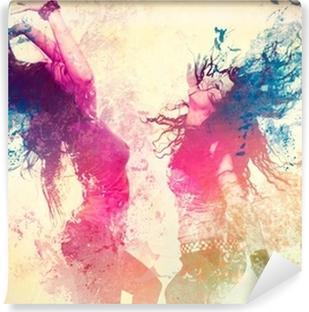 Mural de Parede em Vinil Disco disco 09 / splash em movimento