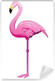 Mural de Parede em Vinil Flamingo