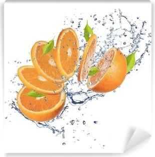 Mural de Parede em Vinil Fresh orange