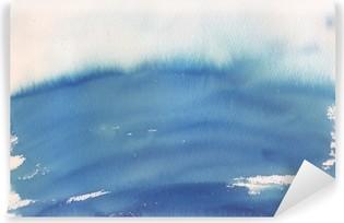 Mural de Parede em Vinil Fundo da aguarela azul ombre